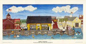Old Mallory Docks Unsigned Print by Mario Sanchez