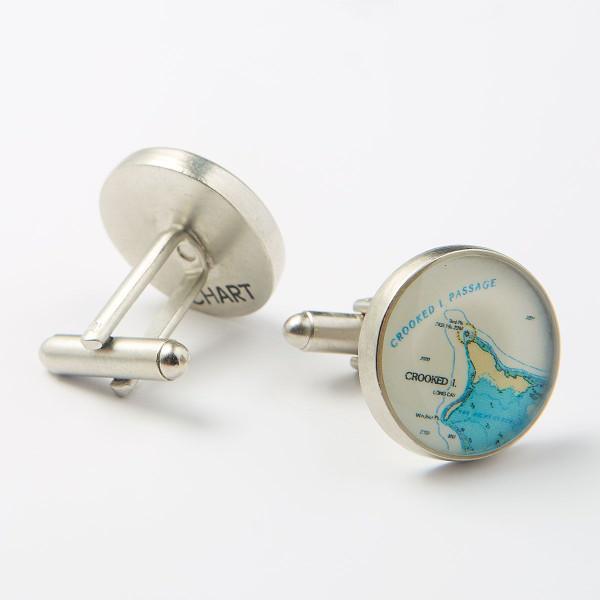 Keys Nautical Chart Cufflinks