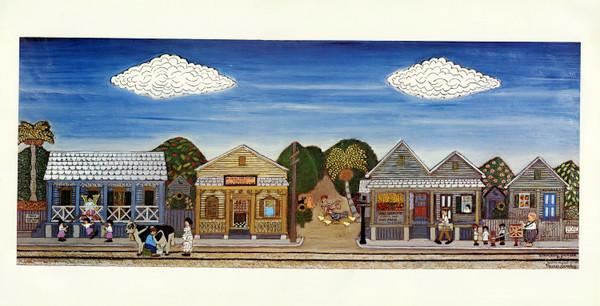Gato Village Unsigned print by Mario Sanchez