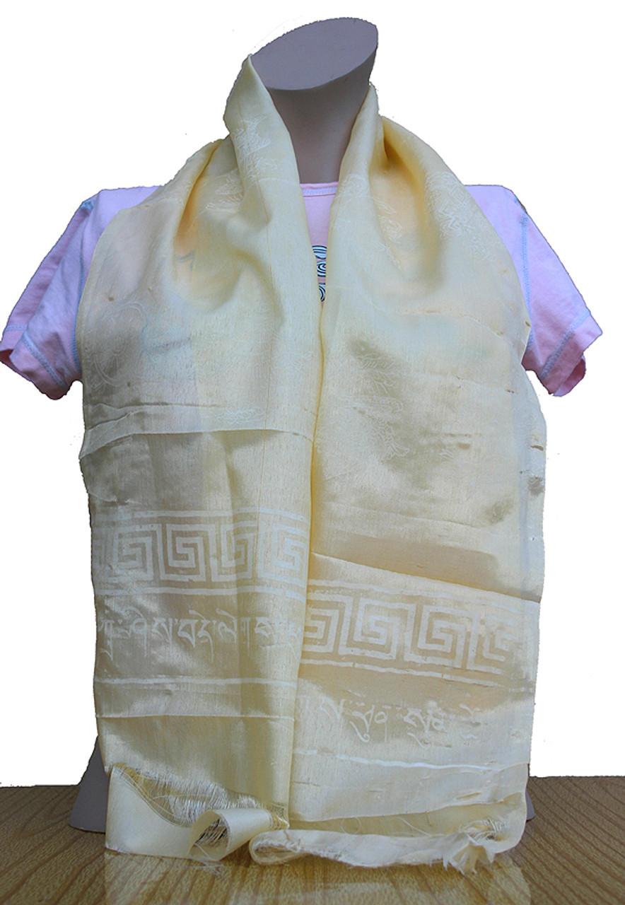 yellow khata prayer scarf