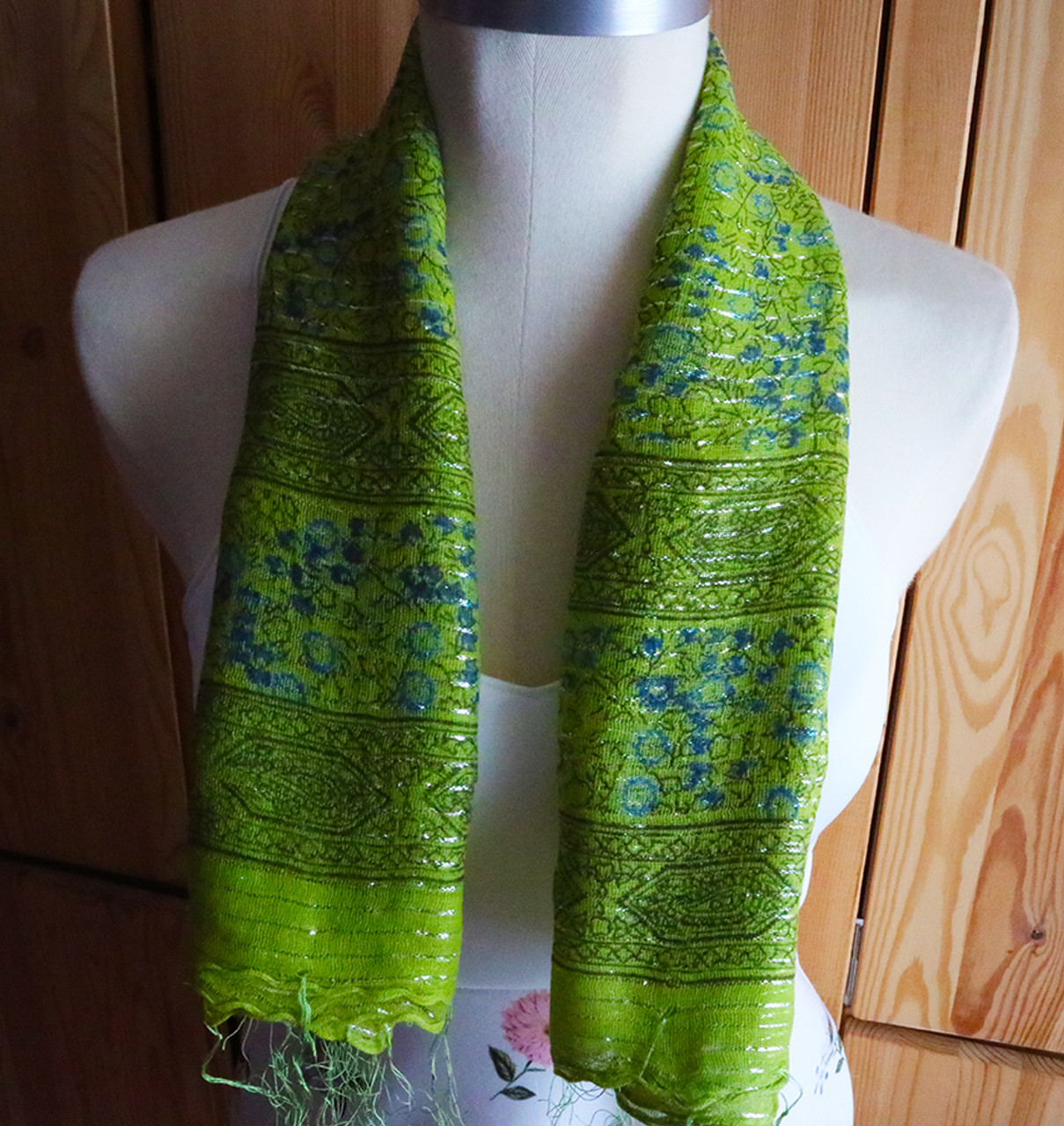 Floaty Indian cotton scarf