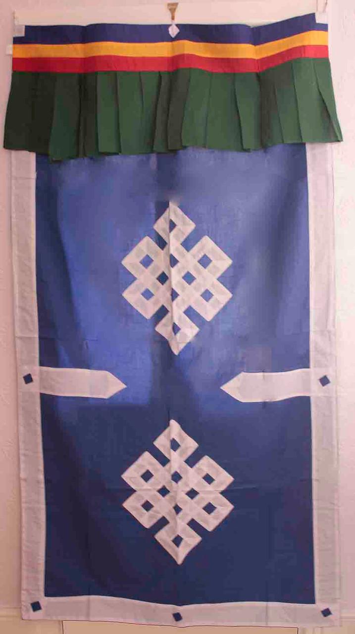 Tibetan door curtain endless knot