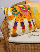 Indian Elephant cushion cover