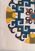 Tibetan design Single Bed Sheet & 1 Pillow Case