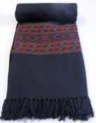 Indian Kullu Shawl with colourful woven border