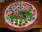 Indian Elephant and Tree of Life ROUND table runner
