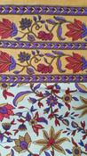 Indian block print flower throw bed linen