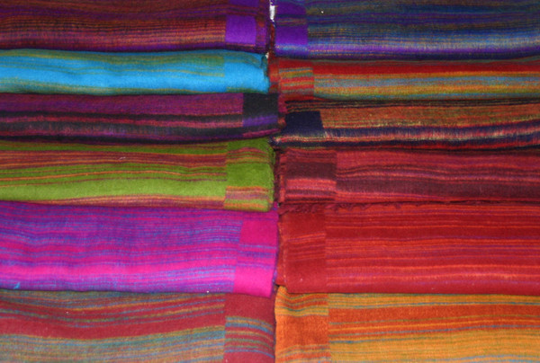 Stripe fleece Himalayan blankets