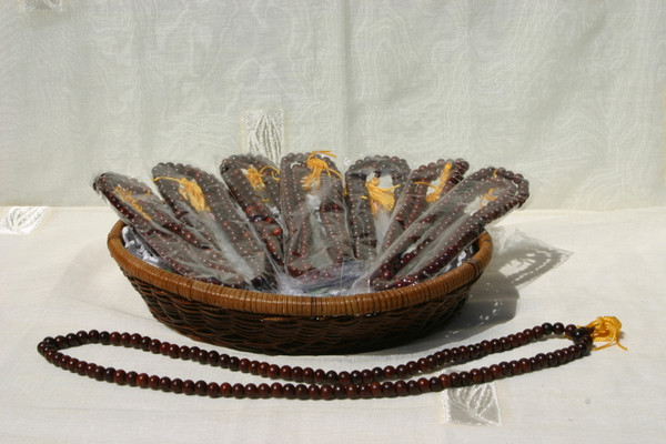 rosewood mala prayer beads