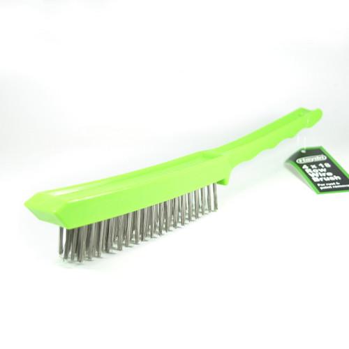 Plastic Handle 4 Row Wire Brush