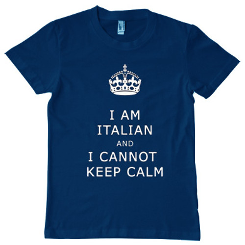I am Italian and I cannot keep calm tshirt