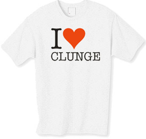 I love clunge t-shirt from the popular TV series the Inbetweeners a must have for the true fan
