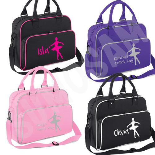 Girls Personalised Ballet Dancer Shoulder Bag Free Printing Dance Accessories