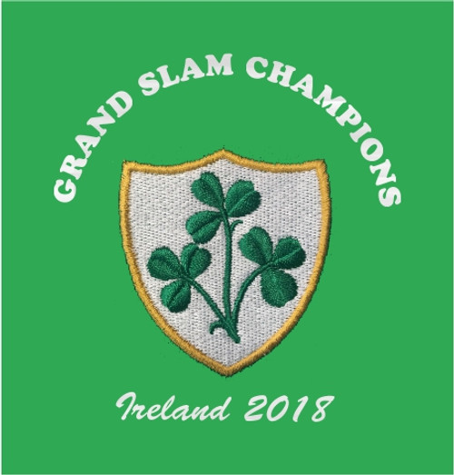 the latest 369a9 0e1b3 Ireland Grand Slam 2018 Retro Rugby shirt
