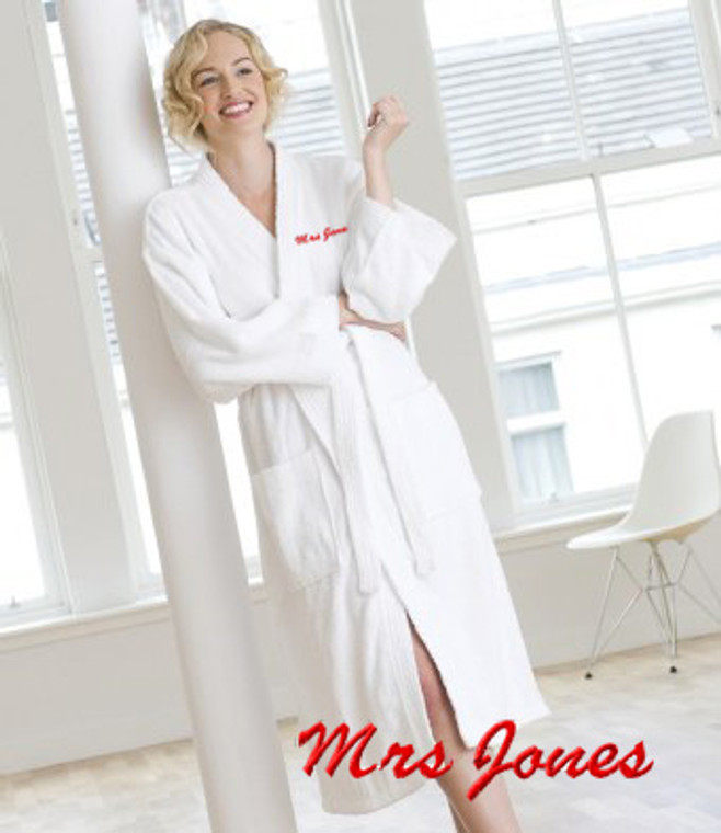 personalise your own monogrammed dressing gown
