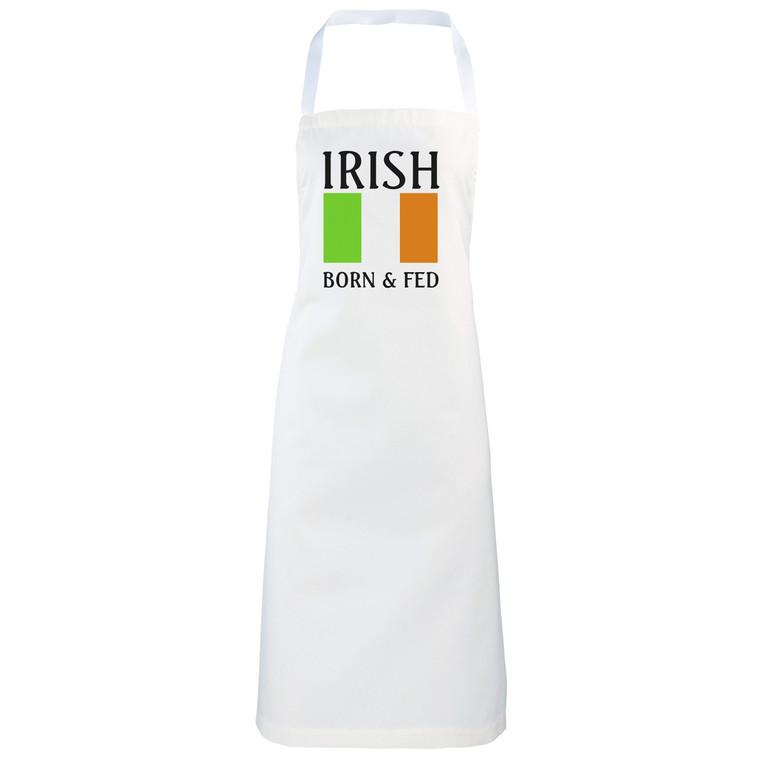 Irish Born and fed Novelty funny apron gift idea