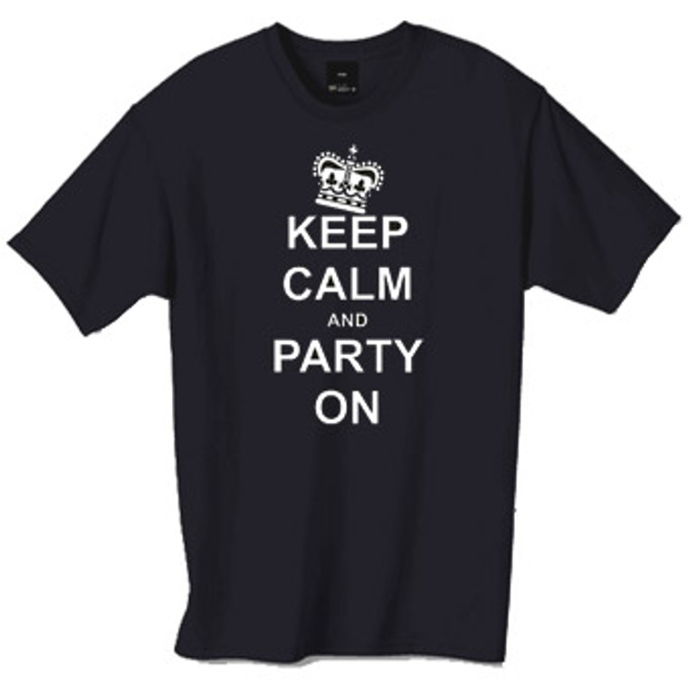 Keep calm and party on tshirt