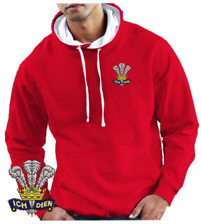 Wales CYMRU Contrast Rugby hoodie