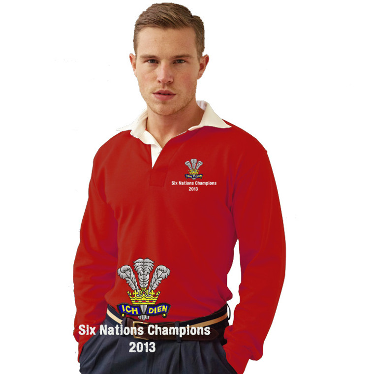 Wales Six Nations 2013 Retro Rugby shirt