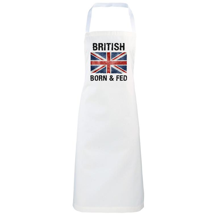 British Born and Fed Funny novelty apron gift idea