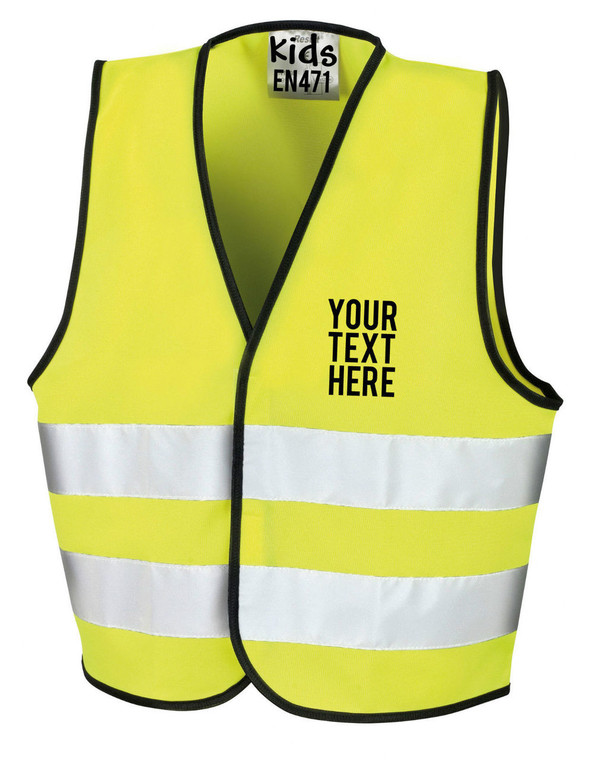 Children's High Visibility Vest in Yellow
