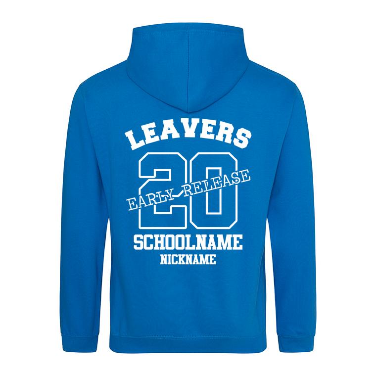 Leavers Hoodie Early Release Lockdown hoodies Sapphire Blue