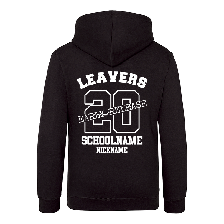 Early Release Leavers hoodie black