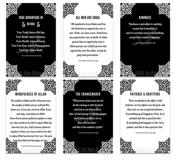 Prophetic Wisdom Set of Six Posters Black and White - Unframed