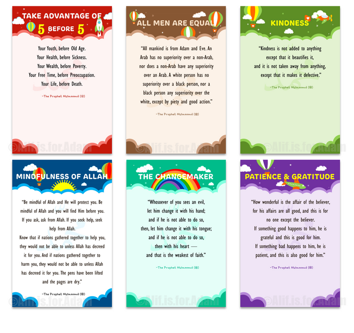Prophetic Wisdom Set of Six Posters Multicolored - Unframed