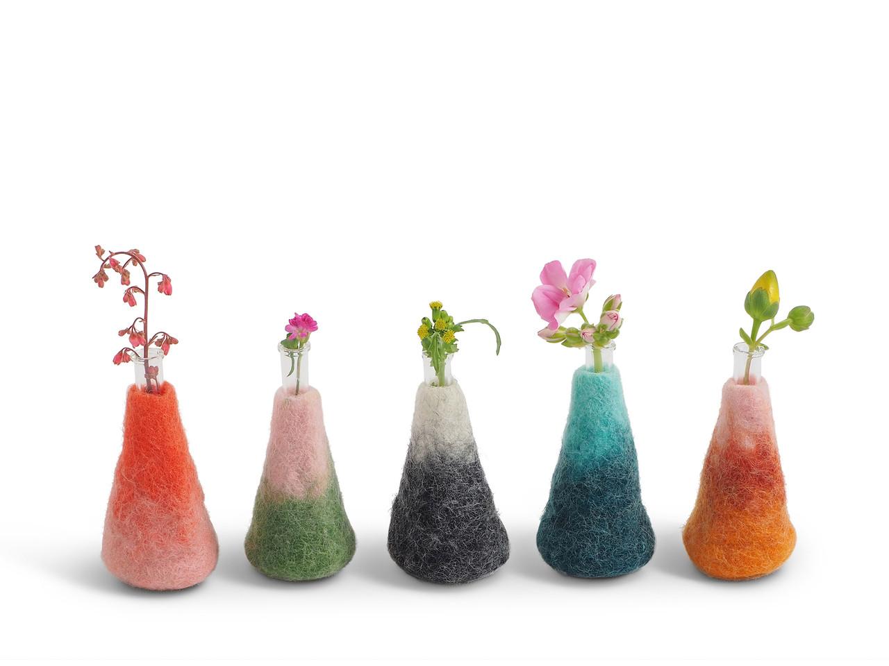 Wool Felted Vases