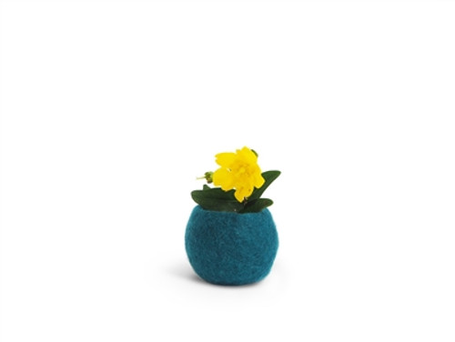 Wool Felted Flower Pot *small*