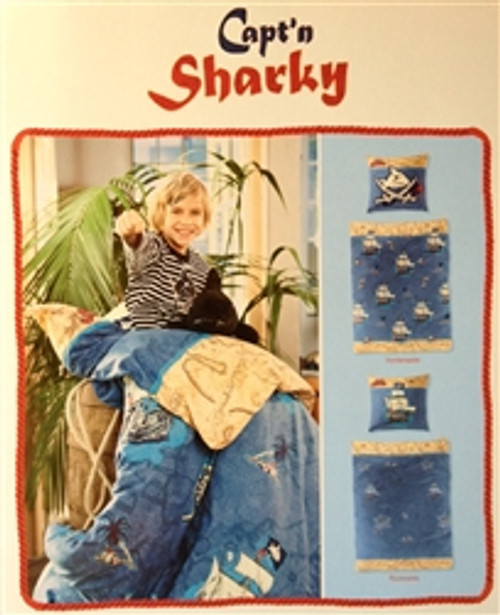 "Duvet Cover Set Pirate ""Capt'n Sharky"""