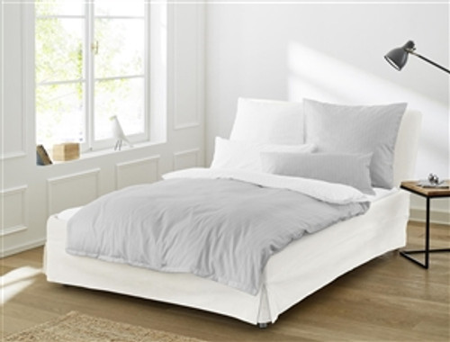 "Duvet Cover Set ""LINEA"" silver *back in stock*"