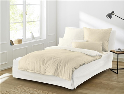 "Duvet Cover Set ""LINEA"" cream *back in stock*"