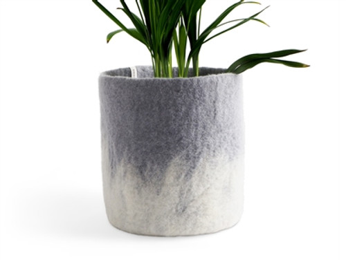 Wool Felted Flower Pot *large* Concrete