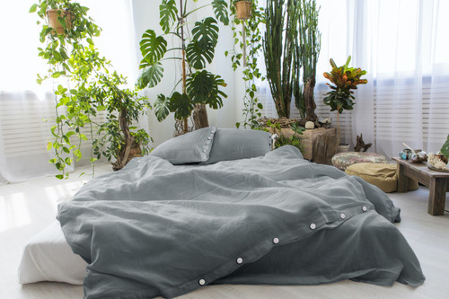 Linen Pillow Cases in *Grey* Twin / Euro / King