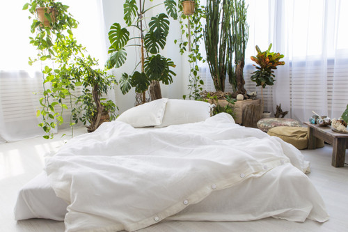 Linen Pillow Cases in *White* Twin / Euro / King