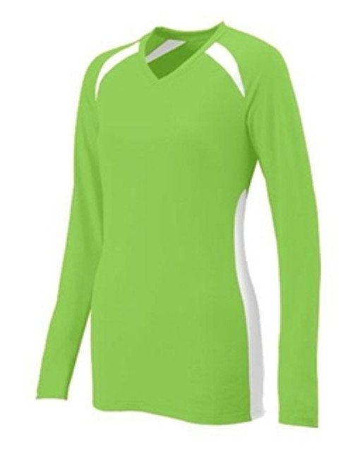 Augusta Spike Long Sleeve Volleyball Jersey _Lime 693
