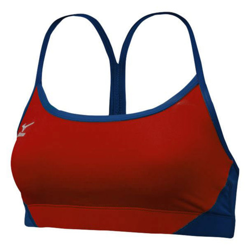 Mizuno Hybrid Beach Bra Top RED-NAVY 440396.1051