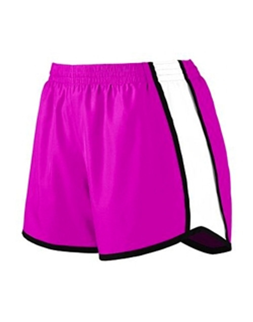 Augusta Ladies Junior Fit Pulse Team Short_Power Pink