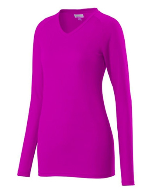 Augusta Ladies Assist Volleyball Jersey Power Pink (809)