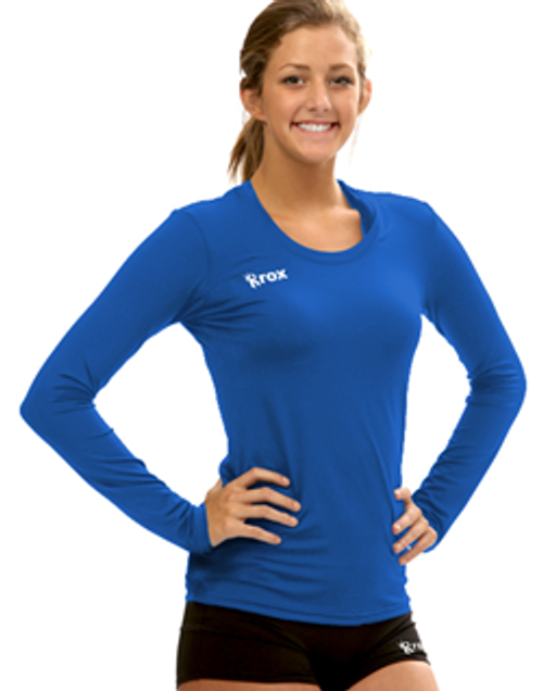 Rox Volleyball Voltaic Long Sleeve Jersey, Rox Volleyball Voltaic Long Sleeve, Rox Volleyball 1261, Long Sleeve Volleyball Jerseys, Solid Volleyball Jerseys, Compliant Volleyball Jerseys