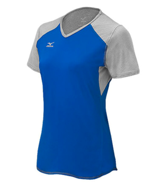 Mizuno 440618 Techno Volley VI Short Sleeve Volleyball Jersey, Mizuno Techno Volley VI Short Sleeve Volleyball Jersey, Mizuno Volleyball Jerseys, Mizuno Team Apparel, Mizuno Techno VI Volleyball Jersey, Womens Volleyball Apparel
