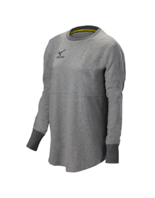 Mizuno 440620 Women's Hitter Pullover Heathered Light Grey