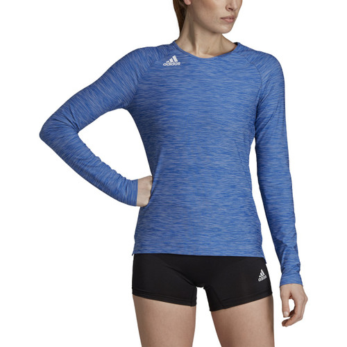 Adidas Womens Hi-Lo Long Sleeve Volleyball Jersey DP4333 COLLEGIATE ROYAL/WHITE
