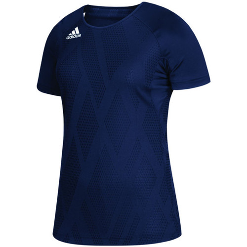 Adidas Climalite Quickset Womens Cap Sleeve Jersey Navy DP4359