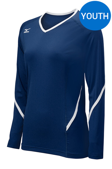 Mizuno 440458 Techno Generation Youth Long Sleeve Volleyball Jersey