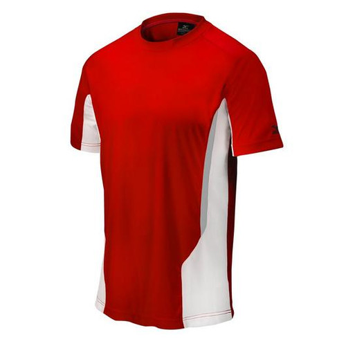 Mizuno 350528 Youth Elite Crew Shirt Red White 350528_1000