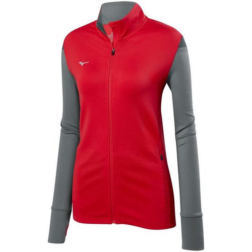 Mizuno HORIZON FULL ZIP VOLLEYBALL JACKET Red Grey 440665_1091