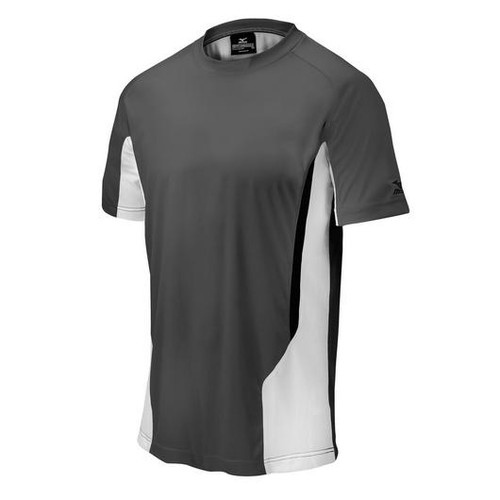 Mizuno 350526 Mens Elite Crew Shirt Grey White 350526_9100
